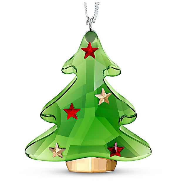 Swarovski Crystal Green Christmas Tree Ornament