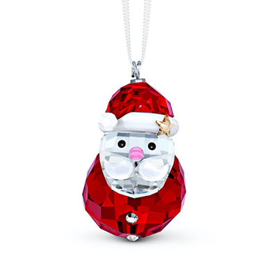 Swarovski Crystal Rocking Santa Claus Christmas Ornament