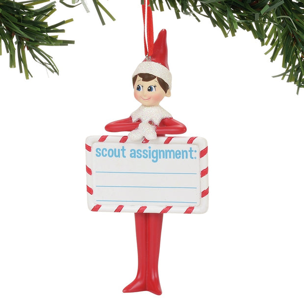 Elf On The Shelf Assignment Ornament