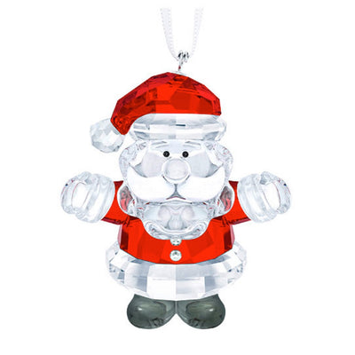 Swarovski Crystal Santa Christmas Ornament