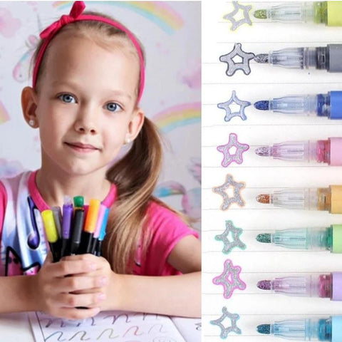 Double Line Magic Shimmer Markers - Cayyogo