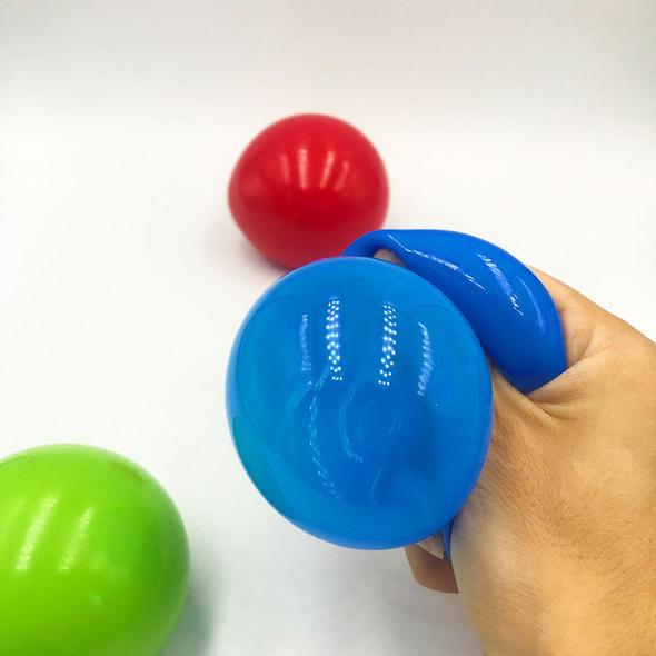 Florescent Sticky Stress Reliever Balls