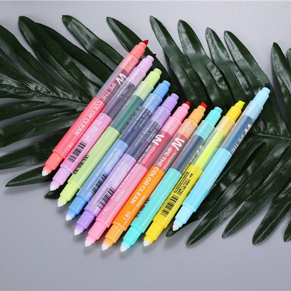 Bold Soft Color Erasable Highlighters