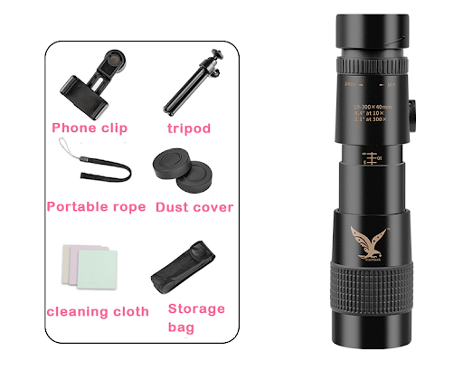 4K Pocket Monocular Phone Telescope