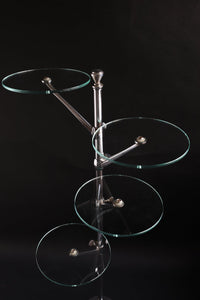 FRENCH Art Deco 4ROUND GLASSES STAND