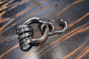 LYNCH SILVER SMITH MINI HOOK KEY RING