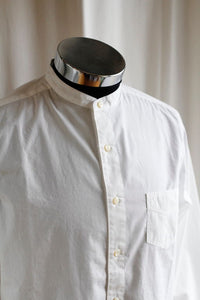 BLACK SIGN BAND COLLAR IMMIGRANT SHIRT