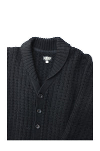 BLACK SIGN TWO QUALITY THICK CARDIGAN