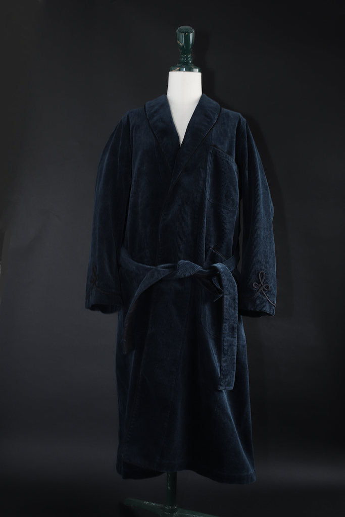 BLACK SIGN 8W CORDUROY SMOKING GOWN