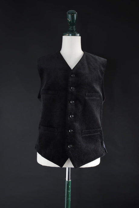 BLACK SIGN 8W CORDUROY BUTLER VEST