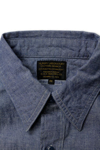 BLACK SIGN OPEN POCKET WORKING CHAMBRAY SHIRT