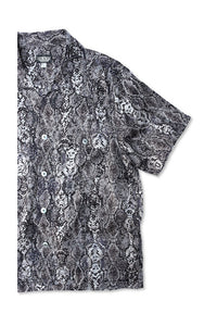 BLACK SIGN PYTHON PATTERN DOUBLE FRONT SPORTS SHIRT