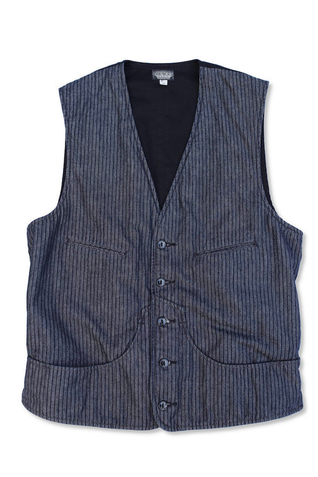 BLACK SIGN INDIGO DOBBY VEST