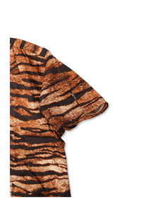 BLACK SIGN TIGER PATTERN TRAVEL SHIRT