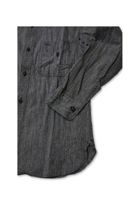 BLACK SIGN MAGIC CHAMBRAY TRIPLE PATCH SHIRT