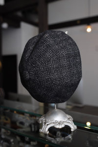 BLACK SIGN WOLF TWEED BERET