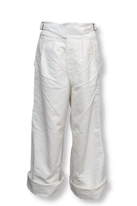 BLACK SIGN MOLESKIN WIDE GURKHA PANTS WHITE