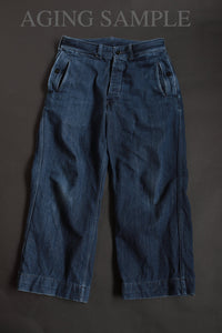 BLACK SIGN 12oz INDIGO DENIM UOLVERINE TROUSERS