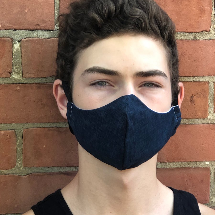 Fitted Face Mask - Navy