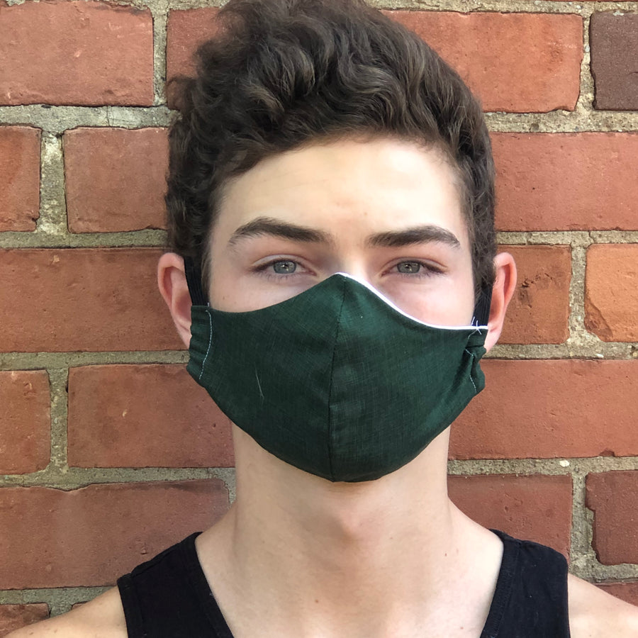 Fitted Face Mask - Forest Green