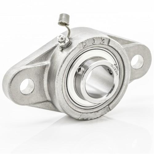 SUCSFL205-25mm Stainless 2 Bolt Flange Bearing