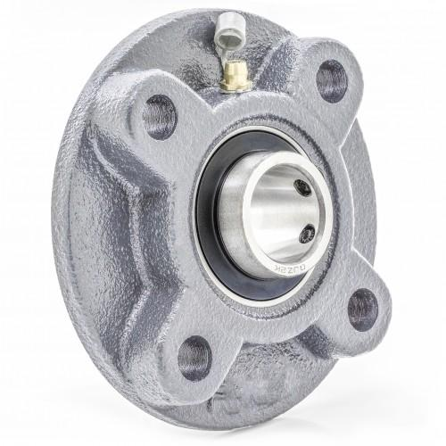 UCFC201-8 - Cast Iron - 1/2 in 4-Bolt Piloted Flange UC201-8 + FC204