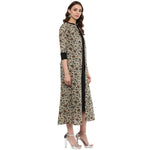 Idalia Kurta with Printed Layered Upper