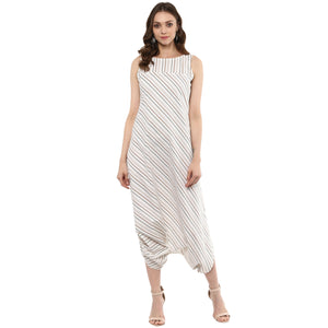 Idalia Striped Dhoti Jumpsuit