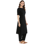 Idalia Women Black Straight Kurta with Pants