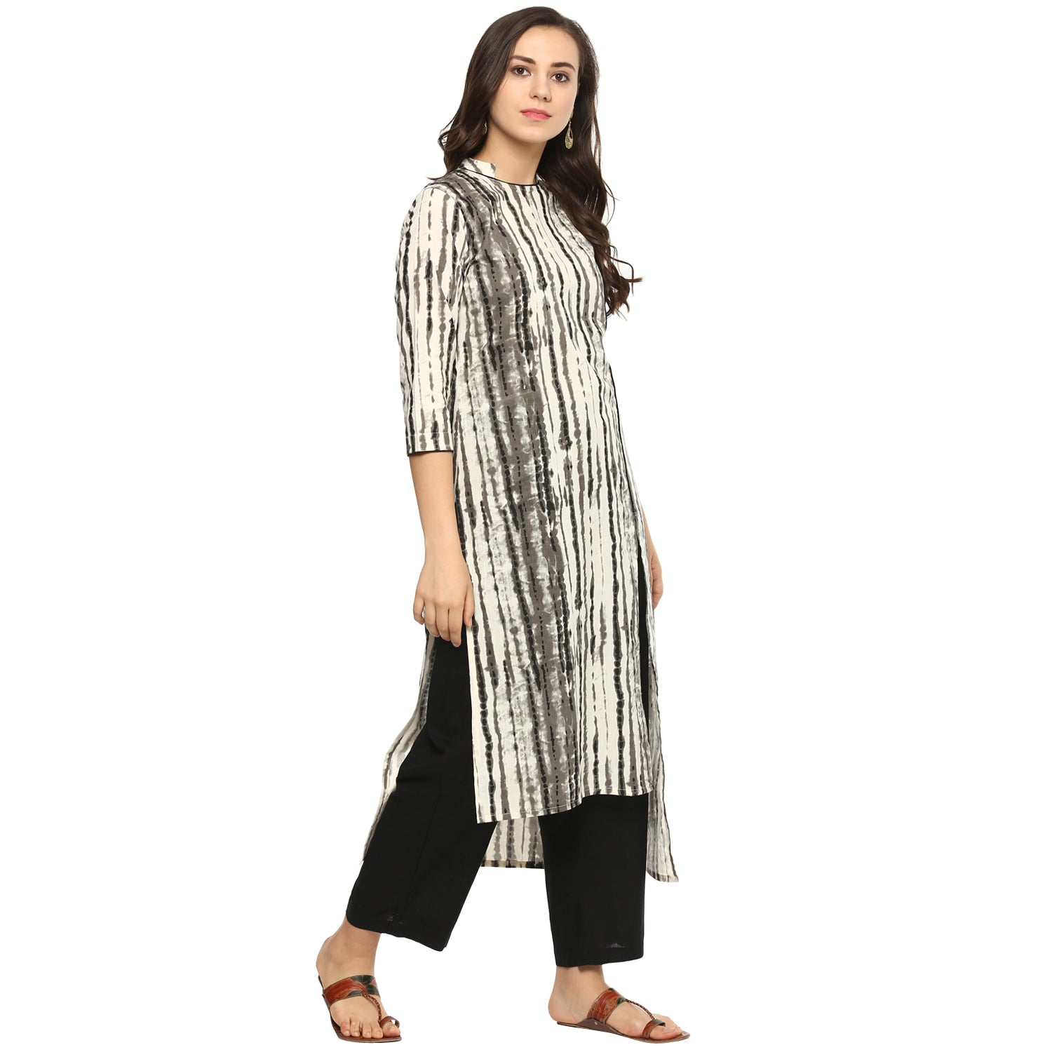Idalia Women Tie Dye Print Multi Coloured Straight Kurta