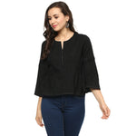 Idalia Women Black Solid Top