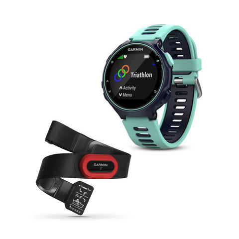 GARMIN Forerunner 735XT Midnight Blue & Forest Blue Run Bundle