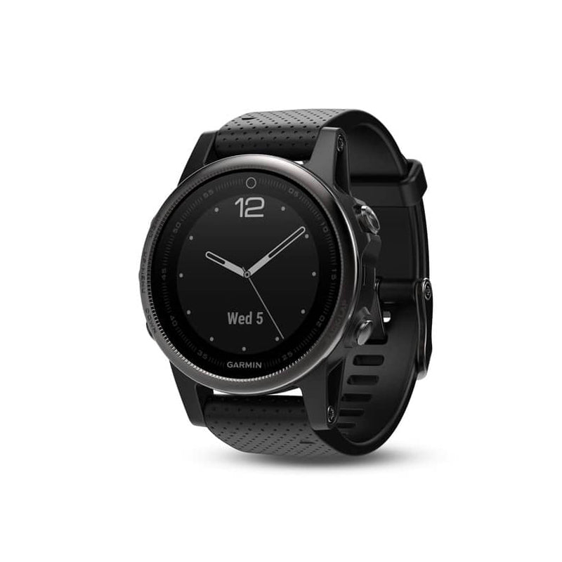 GARMIN Fenix 5s Sapphire Slate Grey with Black Band