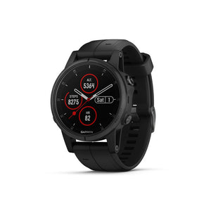 GARMIN Fenix 5s Plus Sapphire Black with Black Band