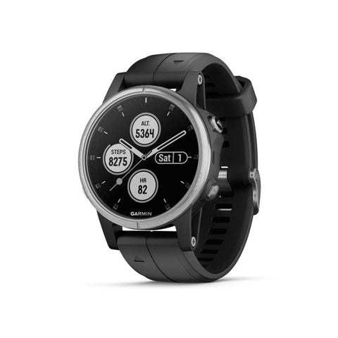 GARMIN Fenix 5s Plus Glass Silver with Black Band
