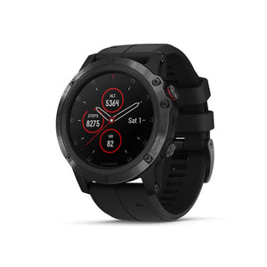 GARMIN Feni 5x Plus Watch Sapphire Black with Black Band