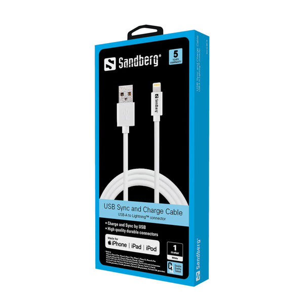 Sandberg USB Lightning 1m Apple Approved