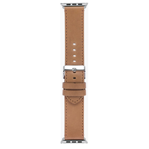 dbramante1928 Copenhagen - Watch Strap 42/44mm - Brown/Silver - Full Grain Leather