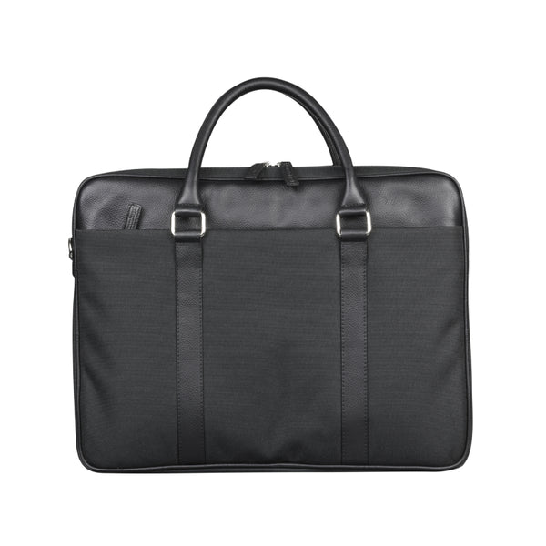 "dbramante1928 Ginza Duo Pocket Laptop Bag PRO - 16"" Black - Full Grain Leather Bag"