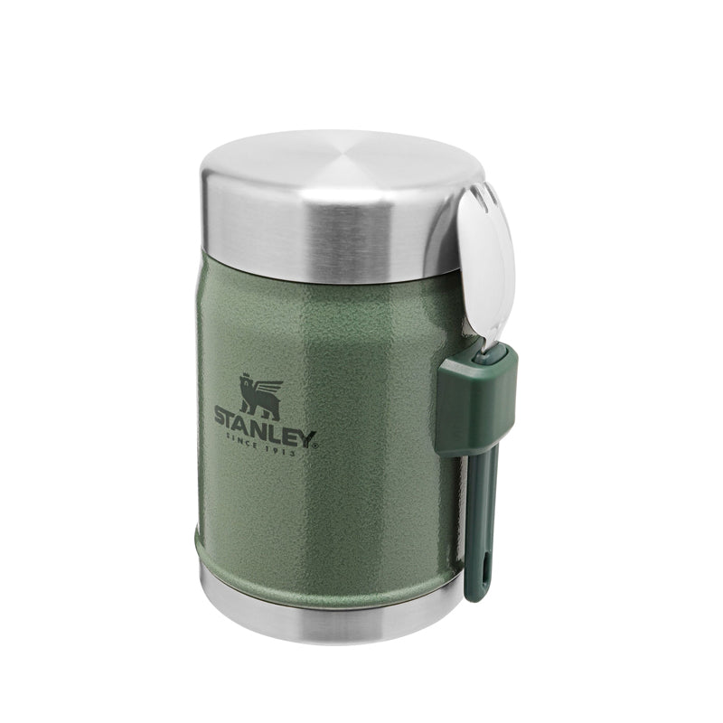 Stanley Classic Legendary Food Jar with Spork 0.4L -Hammertone Green