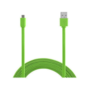Aiino -Micro USB to USB Cable 1,5m Flat -Green