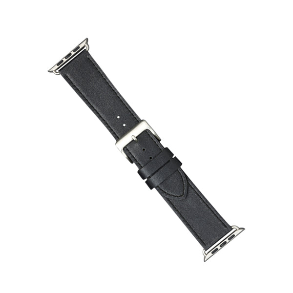 dbramante1928 Copenhagen Watch Strap 40mm Black/Silver - Full Grain Leather