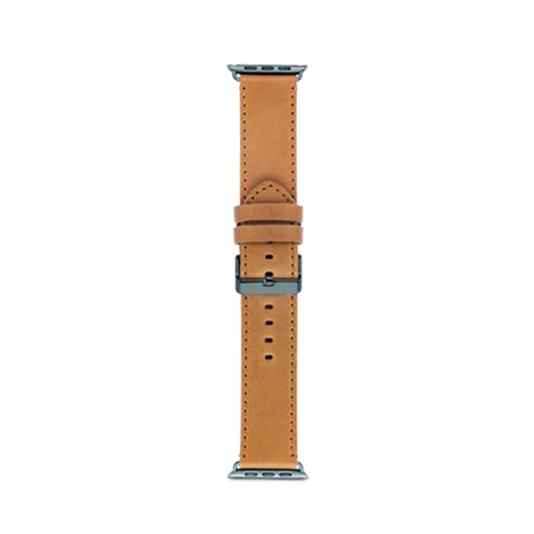 dbramante1928 Copenhagen Strap 42/44mm Light Saddle Brown/Space Grey for Apple Watch