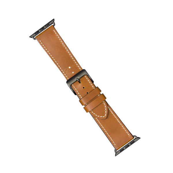 dbramante1928 Copenhagen Watch Strap 44mm Tan/Space Grey - Full Grain Leather
