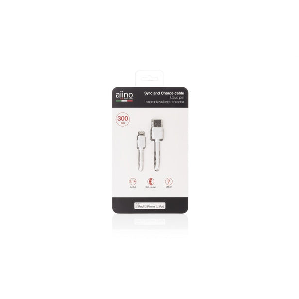 Aiino -Apple Lightning Cable 3m -White