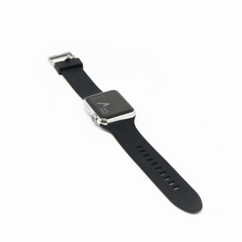 Aiino - Silicone watchband for Apple Watch 38 mm - Black, AIWWRSTWTCH38-BK,Apple Watch Band 38 mm,Silicone watchband for Apple