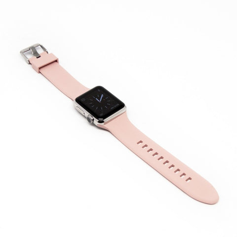 Aiino - Silicone watchband for Apple Watch 38 mm - Powder Pink,AIWWRSTWTCH38-PP,Silicone watchband for Apple Watch 38 mm,Apple Watch Band 38 mm