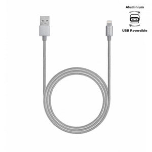 Aiino,Apple,Woven,Lightning Cable,Metal,1.2 m,Space Grey,Cables and Connectors