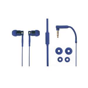 Aiino Aluminum Jazz In-Ear Earphones -Blue