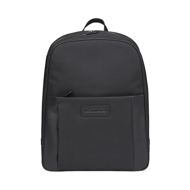 "dbramante1928 Champs Elysees 15"" Laptop Backpack Black - Full Grain Leather"